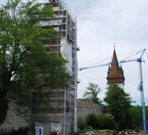 Museggmauer under restoration in 2010
