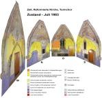 Church of Zell Zurich (CH), historic damages