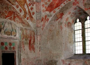 Mural paintings at the church of Zell
