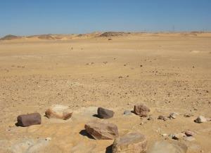 Late Palaeolithic grinding stones by the habitation sites in Wadi Kubbaniya