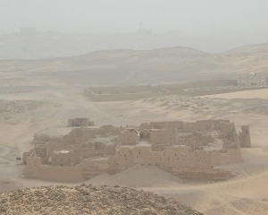 Sandstorm over St. Simeon's monastery