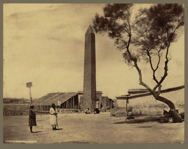 The New York obelisk at Alexandria in the late 1850s