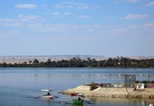 At Lake Qarun towards Gebel Qatrani in the Northern Faiyum