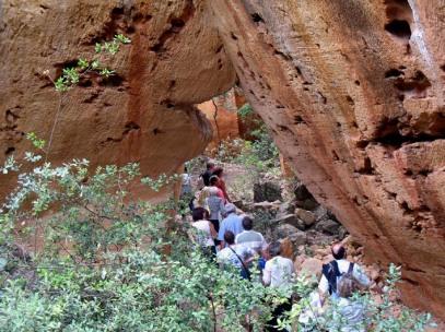 Visiting the Bibemus sandstone quarries in Aix-en-Provence