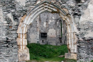 Switzerland (Vicosoprano): ruin of the old church of Gaudenzio