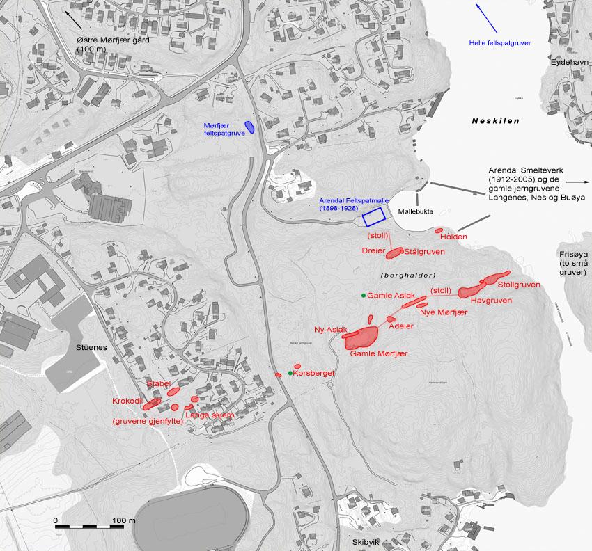 gruver i norge kart De gamle jerngruvene i Neskilen ved Arendal | Per Storemyr  gruver i norge kart