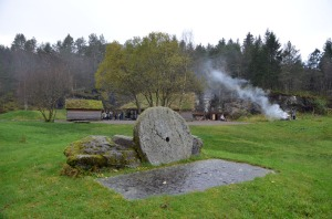 The millstone park at Hyllestad