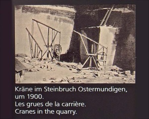 Cranes in the quarries at Ostermundigen. Source: Photo from station at Wege zu Klee
