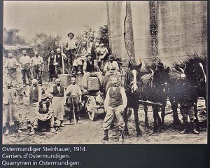 Quarrymen at Ostermundigen. Source: Photo from station at Wege zu Klee
