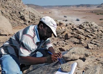 Adel Kamel at work. Photo: Per Storemyr