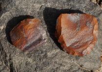 Subeira: Middle Palaeolithic levallois core. Photo: Per Storemyr