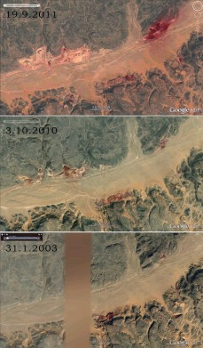 The development in iron mining as seen through Google Earth 2003-2011
