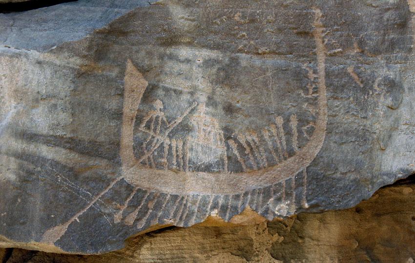 Descubren en Egipto representaciones prehistóricas de 15000 años de antigüedad Subeira_late_predynastic_rock_art_boat