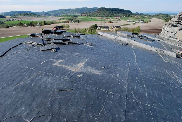 "The black phyllite schist quarry called ""Sorte Skifer"" at Stjørdal in Central Norway. It may have a tradition for procurement of slate back to the Middle Ages. Photo: Per Storemyr"