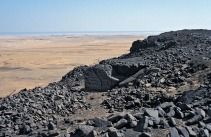 One of the fine Old Kingdom basalt quarries at Widan el-Faras that is now destroyed... Photo: Per Storemyr