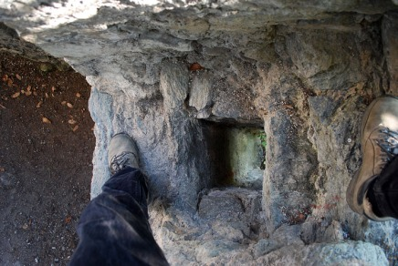 A hole in the wall. The lavatory at Kropfenstein. Photo: Per Storemyr