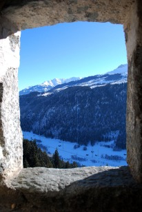 A room with a view, yet the openings did not provide much light. Photo: Per Storemyr