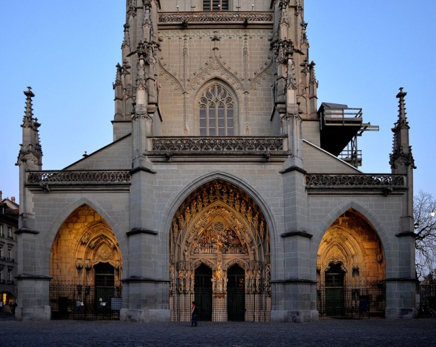 "One of my ""clients"": Medieval Berne Minster in Switzerland (west facade). Photo: Per Storemyr"