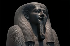 Egypt, or rather the British Museum. For various reasons I take a keen interest in the Wadi Hammamat greywacke quarries. This is one of the beautiful objects made from the stone, part of a sarcophagus-lid of the Vizier Sisebek, from the 26th Dynasty, about 600 BC. Photo: Per Storemyr.