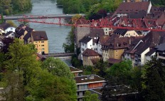 Switzerland:; The medieval core of Brugg, the city where I live. Building cranes tend to obscure the sights at the moment. Photo: Per Storemyr