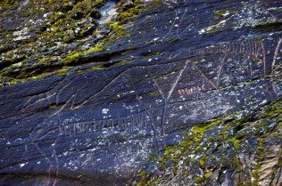 Norway: Stone Age reindeer rock art at the Hell(!) site near Trondheim. Photo: Per Storemyr.
