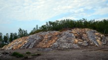 Norway: The Melsvik Mesolithic chert quarry in Northern Norway. Excavated in 2012-13, this is the place where we could show that quarrying was undertaken with the aid of fire setting. Fieldwork with Tromsø Museum. Photo: Per Storemyr.