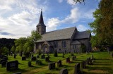 Norway: Rissa 19th century church in the central part of the country. Made entirely from local granodiorite gneiss. Photo: Per Storemyr.