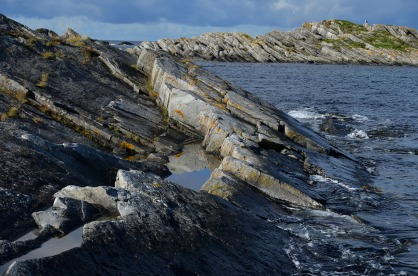Norway: My favorite quarry, a small gneiss quarry used for the Selja medieval monastery at the westernmost part of the country. From fieldwork with the Directorate for Cultural Heritage of Norway, Photo: Per Storemyr.