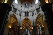 UK: Since I'm fond of Purbeck marble, I just had to visit Temple Church in London. Well, it was destroyed during the war, but reconstructed with the medieval array of Purbeck marble columns. Photo: Per Storemyr.