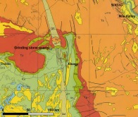 Simplified geological map of the Kharga depression. Modified map from the Egyptian Geological Survey and Mining Authorities (1981)