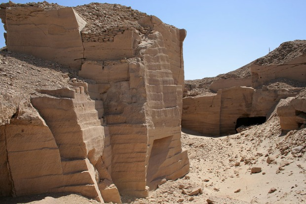 Deserves a place on the World Heritage List: The Gebel el-Silsila ancient sandstone quarries. Photo: Tom Heldal