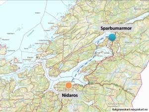 Sparbu var et av de viktigste ressursentra for stein i Trondheimsregionen i middelalderen. Og herfra kom det både søyler og gravplater i skinnende hvit marmor til Nidarosdomen.