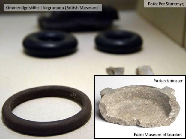 Og hva har vel armbånd i Kimmeridgeskifer og mortere i Purbeckmarmor med Nidarosdomen å gjøre?