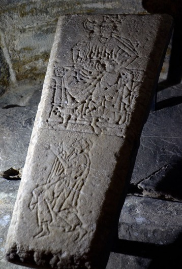 "A medieval grave slab in marble from Værnes church, Central Norway. Værnes was built in the 12th century, as one of the key stone churches up north. Very fortunately, I can carry on studies on the building stones of this church - thanks to my involvement with an interdisciplinary group of researchers keen on the Middle Ages - the ""Grubleseminar"" group. Photo by Per Storemyr"