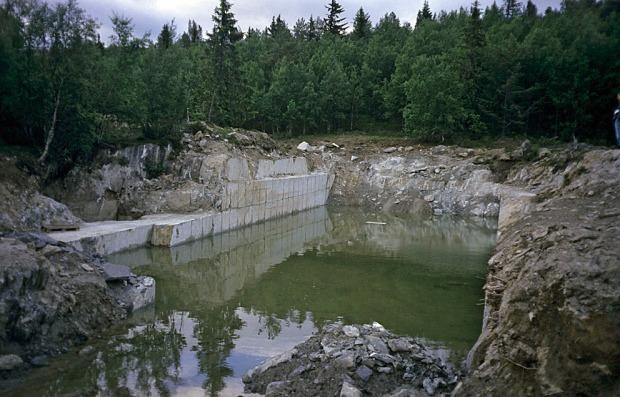 NEDLAGT: Pillarguribruddet ved Otta. Det siste aktive kleberbruddet i Norge. Foto: Per Storemyr