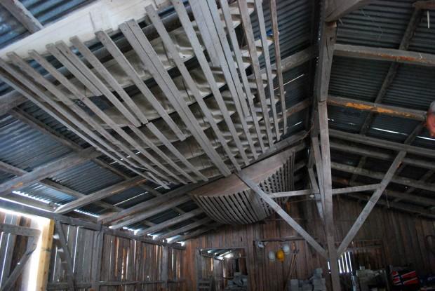 Vekkstuede buestillaser for testing av hvelvinger som skulle bygges med ildfaststein i kleber. Foto: Per Storemyr