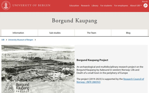 Visit the Borgund Kaupan Project's website