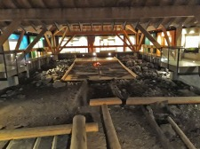 Inside the medieval museum at Borgund, with original floor planks from houses in the town. Photo by Per Storemyr