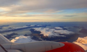 Flying from Bergen to Ålesund, over the wildest seafaring route in Norway - Stad. Photo by Per Storemyr