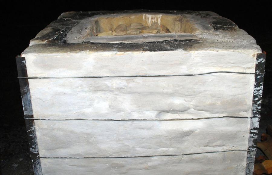 Ovnen malt med nylesket, hvit Smillakalk. Foto: Per Storemyr