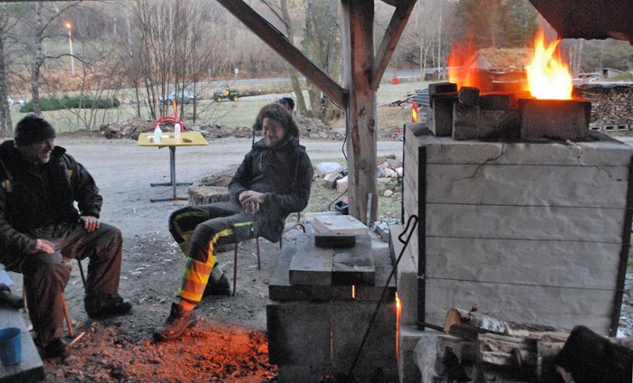 Brenninga er i gang! Foto: Per Storemyr