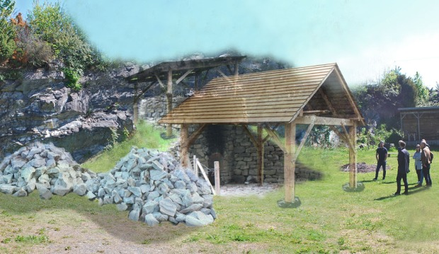 Slik forestiller vi oss den planlagte store kalkovnen i Mostratunet i Mosterhamn
