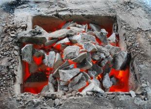 Den brente kalken etter at hele topplokket er fjernet